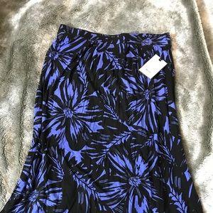 Dana Bachman Honolulu Garden Knit Skirt LG